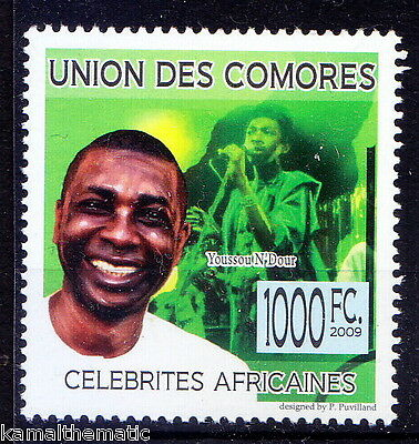 Comores MNH, Youssou N Dour, Music, Singer, percussionist, from Senegal