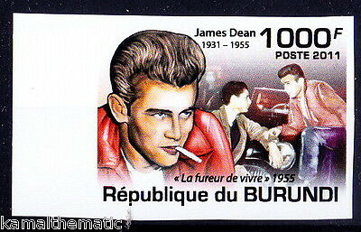 Burundi MNH Imperf, James Dean, Films, Cinema, Actor, posthumous Academy A  -M58