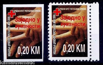 Bosnia 2008 MNH Perf + Imperf, Red Cross  -M12
