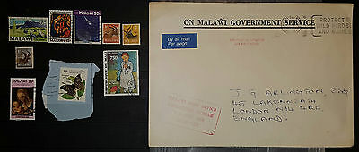 MALAWI Mixed Used Stamps Cover (NoL 364)