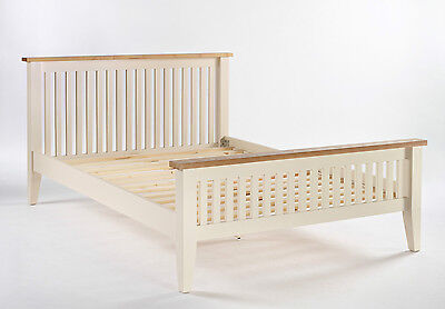 Camden Painted Pine and Ash King Size Bed Frame