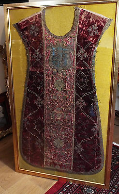15th Century Italian Chasuble Front Metallic Embroidered Armorial Orphrey Band