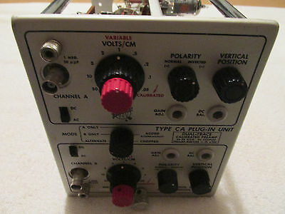 Tektronix     Type CA    Plug-in     500 Series    Well Kept Condition
