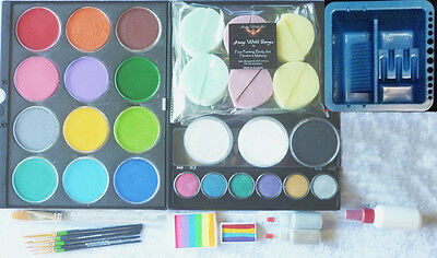 Semi-Professional Face Paint Starter Kit 5 Face Painting Art Supplies