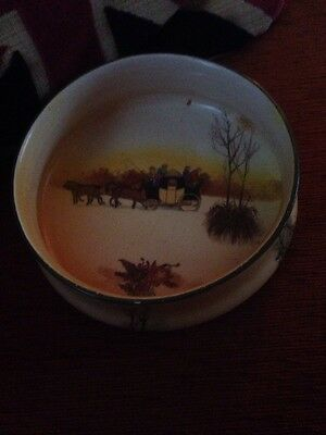 Stagecoach / carriage Dish Vintage