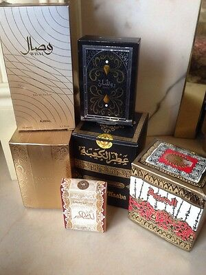 6 Beautiful- Empty  Perfume Aftershave Arabic Boxes Gift - Storage Display Boxes