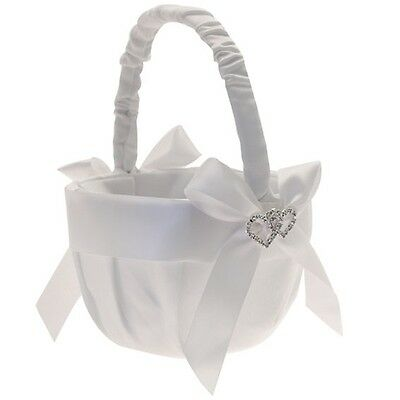 Diamante Heart Flower Girl Bridesmaid  Basket PP968