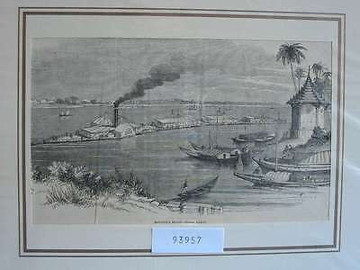 93957-Seefahrt-Schiffe-Ship-Bourne River Steam Train-T Holzstich-Wood engraving