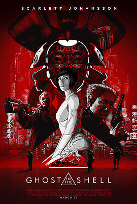 GHOST IN THE SHELL red film poster photograph - quality A4 glossy picture