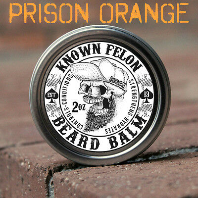 Known Felon 2oz Prison Orange Beard Balm All Natural