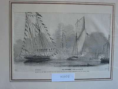 93970-Seefahrt-Schiffe-Ship-Royal Yacht Squadron-T Holzstich-Wood engraving
