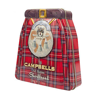 Campbells 150G All Butter Scottish Shortbread Kilt Colection Tin (One Size)