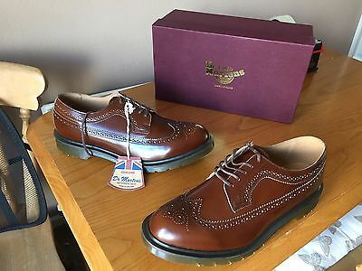 Dr Martens 3989 brown boanil leather brogue shoes UK 11 EU 46 England