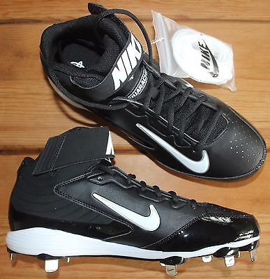 Nike Huarache Strike Mid Metal Baseball Cleats Black Men's Size 9 NEW
