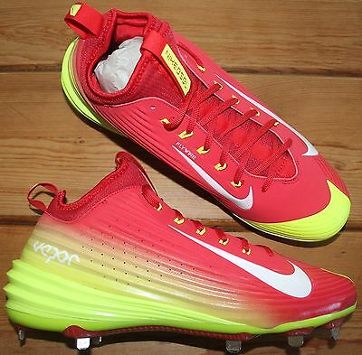 Nike Mike Trout Vapor Metal Baseball Cleats Men's Size 12.5 Red/Yellow