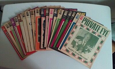 Collection of 20 Private Eye magazines from early 70s