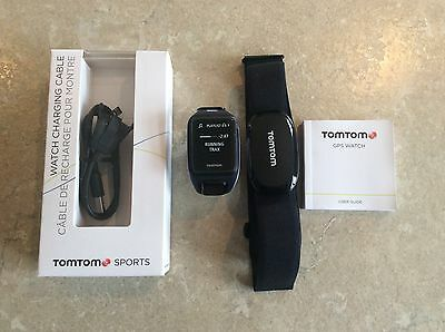 TomTom Runner 2 Music with NEW HRM -  Sky captain blue/Purple haze - Small