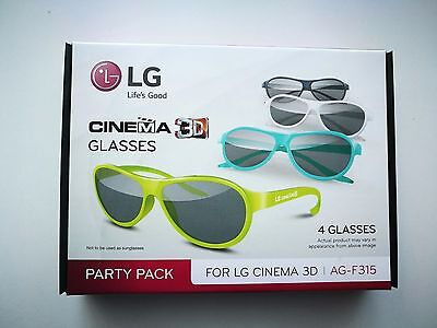 LG Cinema/home 3D Glasses Party Pack of 4. Original box & packing. Brand New!!!!