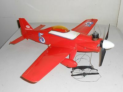 VINTAGE GAS POWERED MODEL AIRPLANE WITH ENGINE Control Plane 1960s! Rare