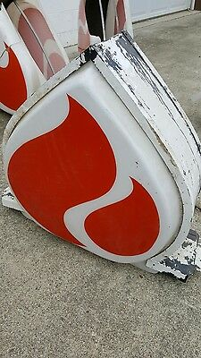 Vintage Standard Amoco Flame Top Sign Topper - Plastic Outdoor Metal Can Case