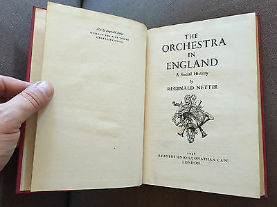 """1948 """"the Orchestra In England"""" Orchestra Information Hardback Book"""