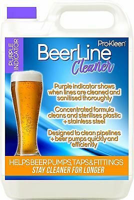 Pro-Kleen Professional Heavy Duty Purple Beer Line Cleaner 5Litres Pub Bar Club