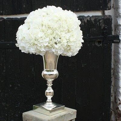 Stunning Large Silver Plated Luxury Vase Display Urn Table Centrepiece 50cm EF