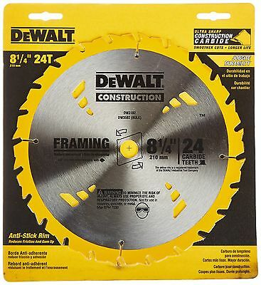 DEWALT DW3182 Series 20 8-1/4-Inch 24 Tooth ATB Framing Saw Blade with 5/8-In...