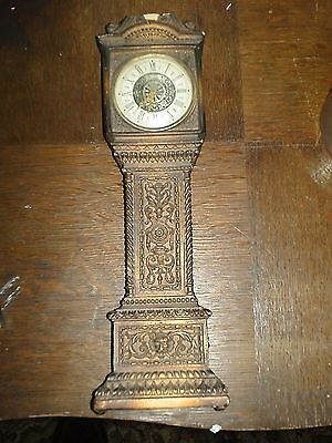 Miniature Carved Grandfather Clock