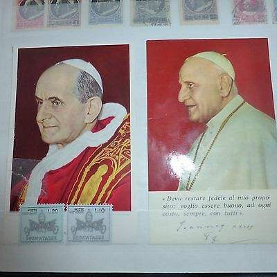 Album Collection Vatican 406 Timbres Neuf/obliteres + 5 Cartes + 1 Bloc