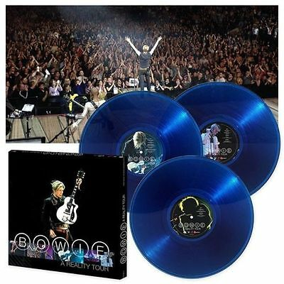DAVID BOWIE - A REALITY TOUR 180Gr Blue Vinyl 3 LP Box Set  SEALED  VINILO AZUL