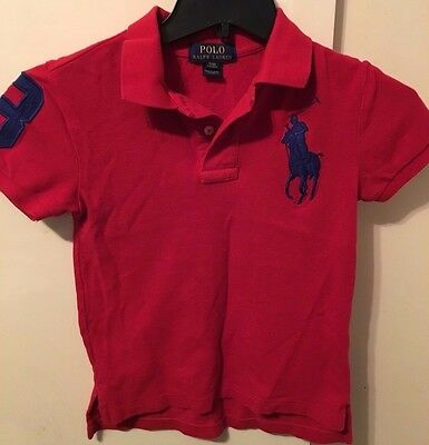 Polo Ralph Lauren Boy's Polo Red Shirt, Size S (8)