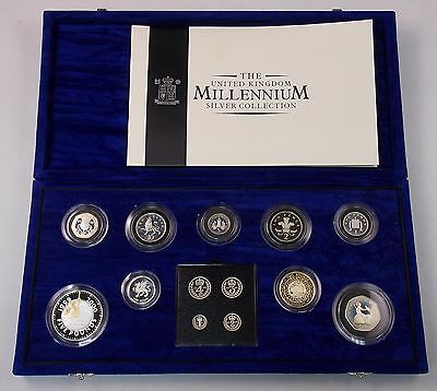 2000 United Kingdom Millennium Silver 13-Coin Proof Collection w/Maundy Coins