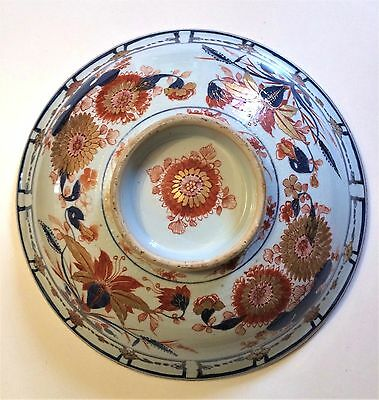 Antique 18th C Chinese Imari Export Porcelain Large Plate Covered Stand