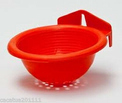 Superior Quality:  10 X Plastic Nest Pans  For Canaries/finches - Orange