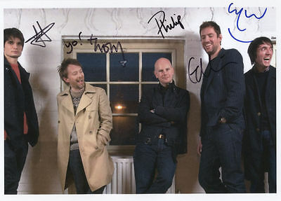 """Radiohead (Band) Fully Signed 8"""" x 10"""" Photo Genuine In Person"""
