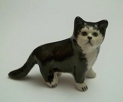 chat miniature en porcelaine,collection,animal,, cat, kat, poes,roux  *S2-5