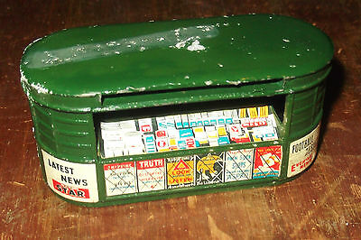Vintage Diecast Newsagent's Kiosk.  1950's / 60's. Made In GB.  Rare Item.