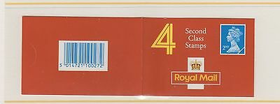 GB STAMPS  Booklet 1991  HA4a Walsall  4 x 2nd Class