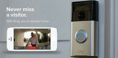 Ring WiFi Enabled Smart Phone Video Security Camera Doorbell