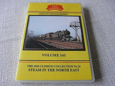 railway dvd -- B&R Volume 145-- Steam in the North East--Jim Clemens