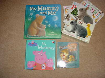 Lovely Pre School Hard Board Books, Little Bear, My Mummy, Touch & Feel Books