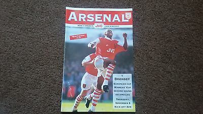 Arsenal V Brondby European Cup Winners Cup 1994