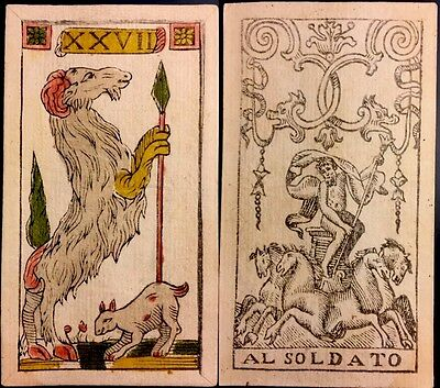 Aries c1750 Bologna Italy Piacenza Playing Cards Fortuna Tarot Astrology Single