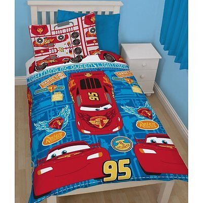 Disney Pixar Cars Single Cover Duvet Set Quilt Kids Bedding Reversible