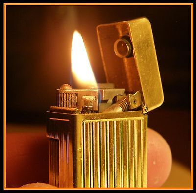 Briquet essence Dunhill Rollalite Gold Plated - RARE - vintage lighter Feuerzeug