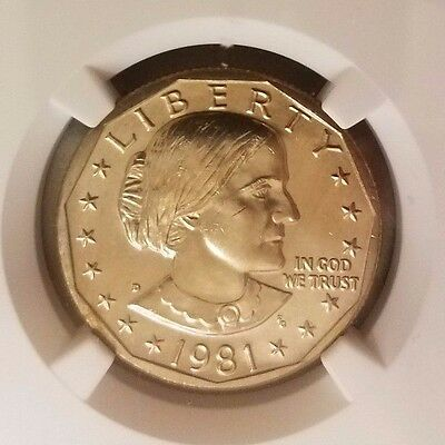 1981 D Susan B Anthony $1, NGC Certified MS 65