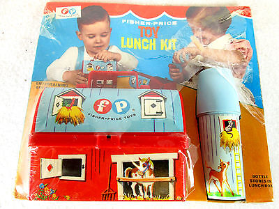 Vintage 1967 Fisher Price Toy Lunch Box kit no. 549 barn & silo (unopened)