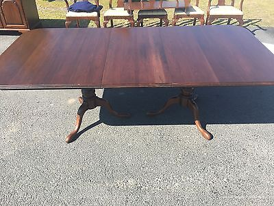 Ethan Allen Georgian Court Solid Cherry Dining Table With 1 Leaf