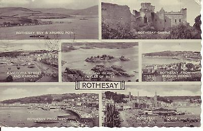ROTHESAY, 7 Views from the Town & Area, 1960s Postcard VGC